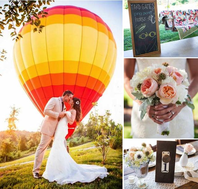 hot air balloon ride nashville tennessee wedding