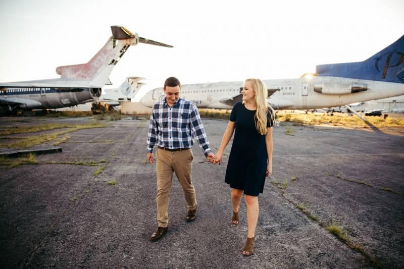 abandoned plane engagement session