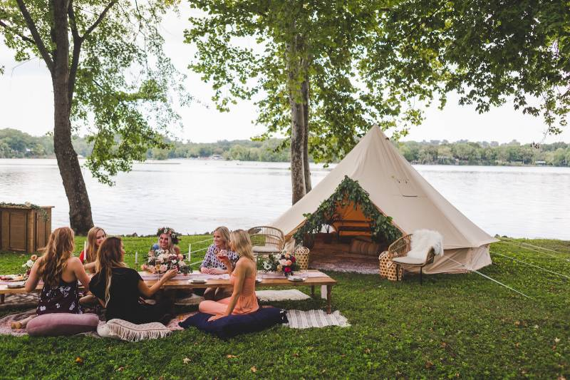 Happy Campers Nashville Bell Tents for Weddings