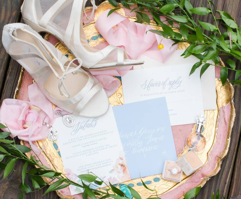 Colorful Green Door Gourmet Styled Shoot by Harp & Olive featured on Nashville Bride Guide