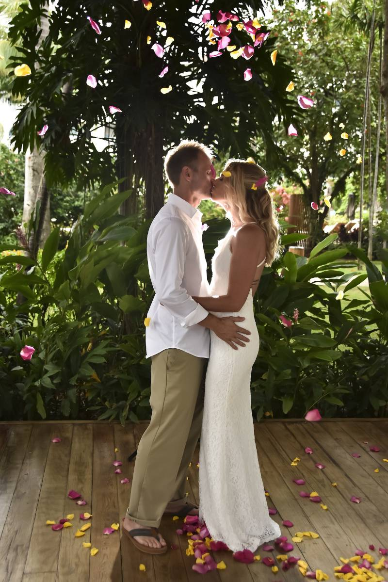 Beach Elopement in Barbados from 2 Travel Anywhere featured on Nashville Bride Guide