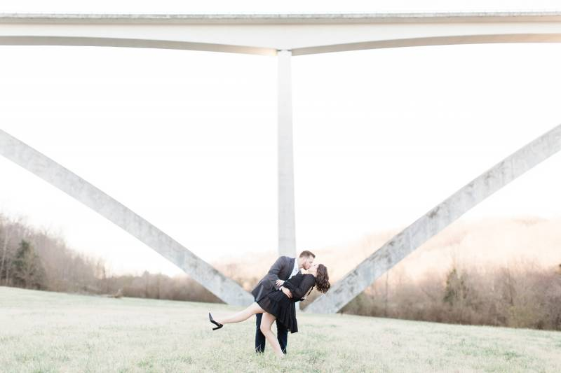 A Romantic Coffee Shop Engagement Session by Allyography featured on Nashville Bride Guide!