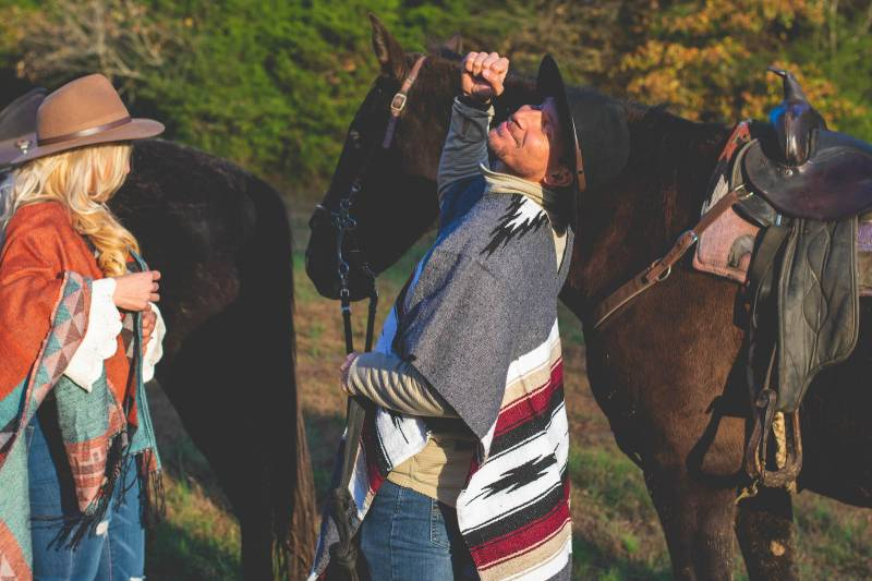 Ariel + Joel's Horseback Riding Proposal |  Nashville, TN Engagement Session featured on Nashville Bride Guide