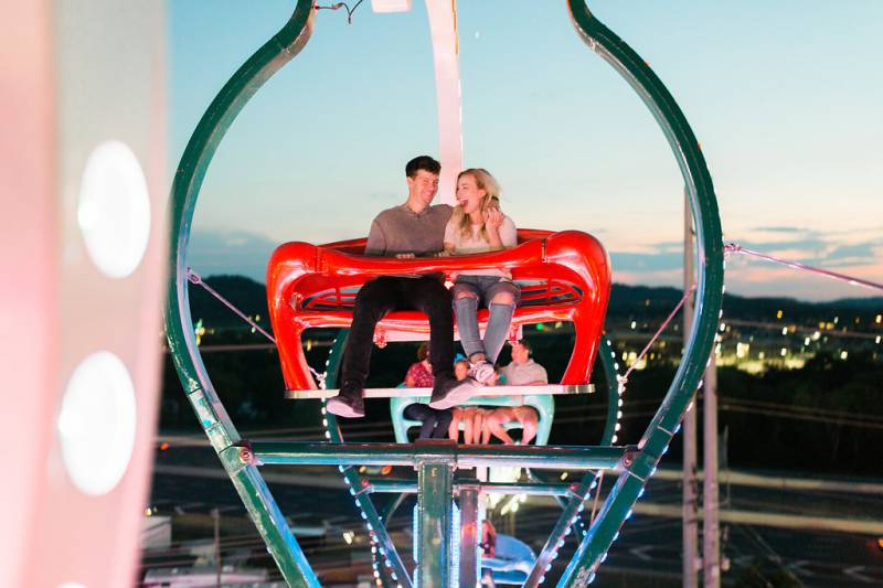Nashville Fair Engagement by David + Drew Photography featured on Nashville Bride Guide