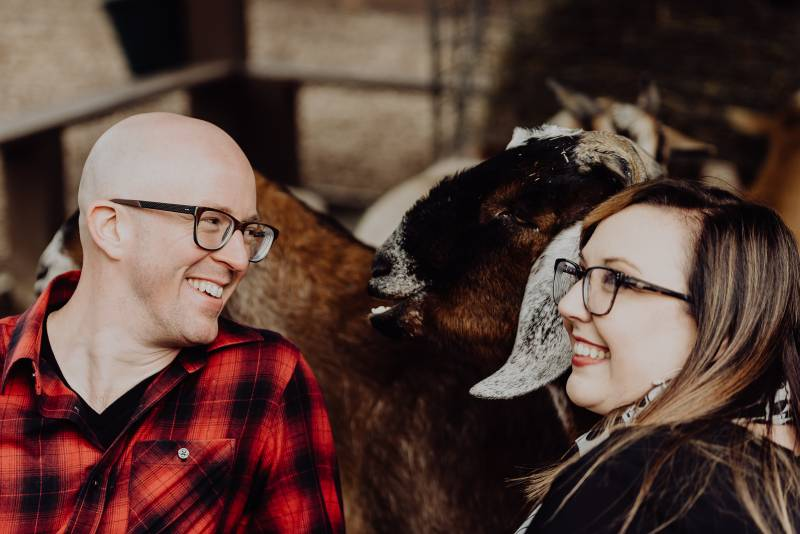 Nashville Zoo engagement session by Wilde Company featured on Nashville Bride Guide