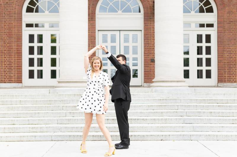 Honeysuckle & Wine Photography Nashville Engagement Session at Vanderbilt University