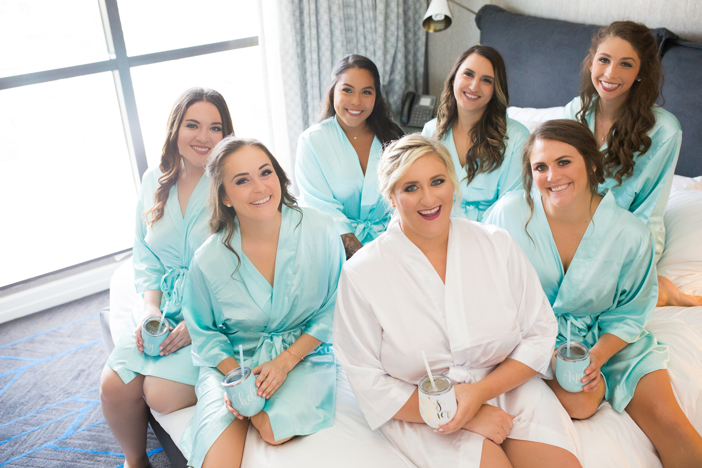 Bridal party photos: Charming & Fun Hutton Hotel Nashville Wedding