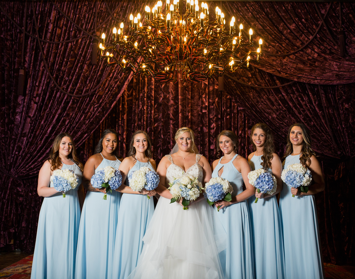 Blue bridesmaid dresses: Charming & Fun Hutton Hotel Nashville Wedding