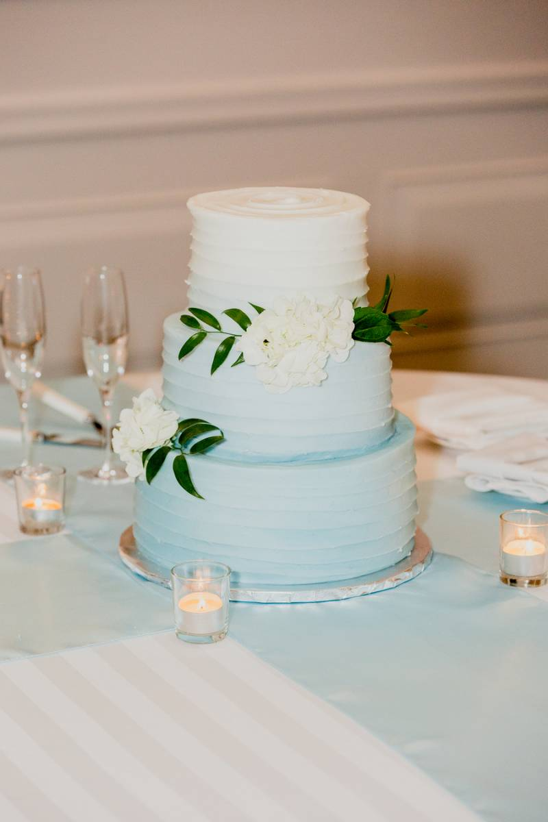 Blue Ombre Wedding Cake: Charming & Fun Hutton Hotel Nashville Wedding