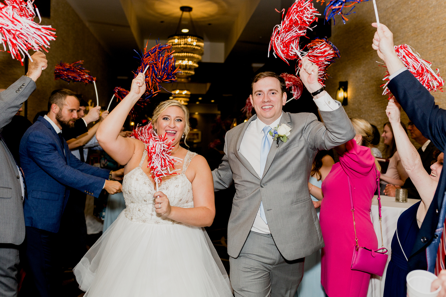 Wedding reception exit: Charming & Fun Hutton Hotel Nashville Wedding