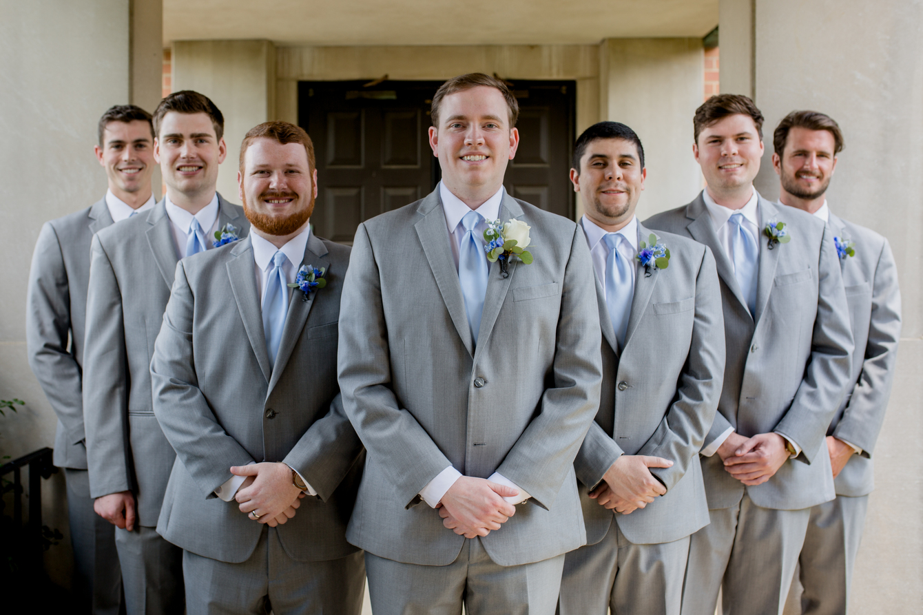 Gray grooms attire: Charming & Fun Hutton Hotel Nashville Wedding