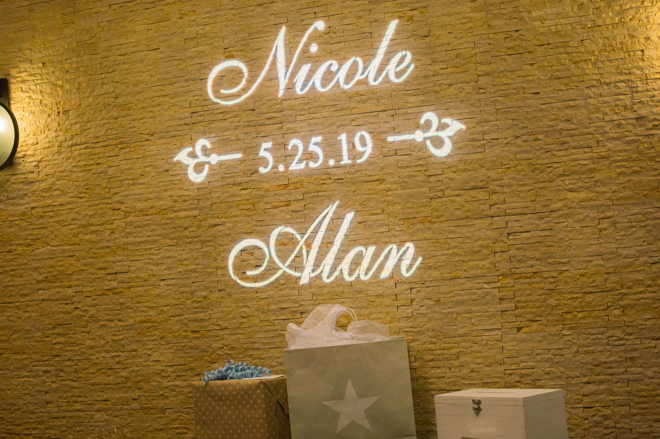 Wedding reception sign: Charming & Fun Hutton Hotel Nashville Wedding