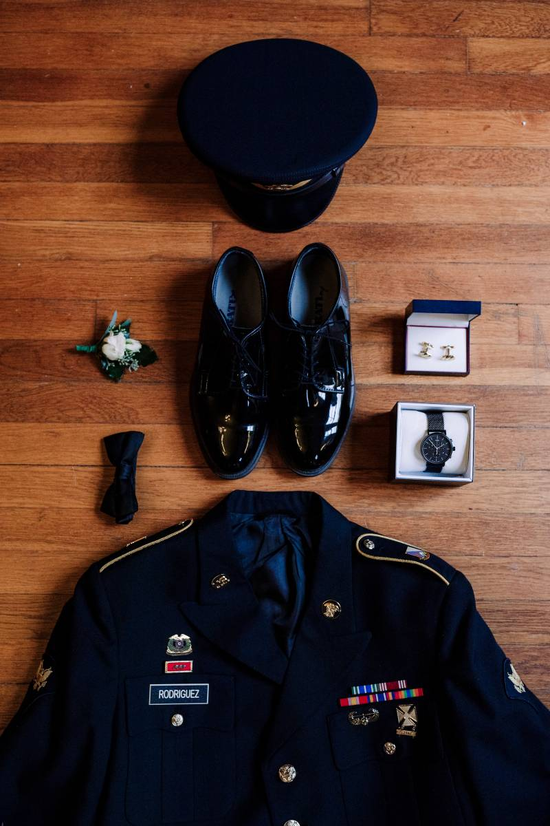 Grooms attire: military wedding featured on Nashville Bride Guide