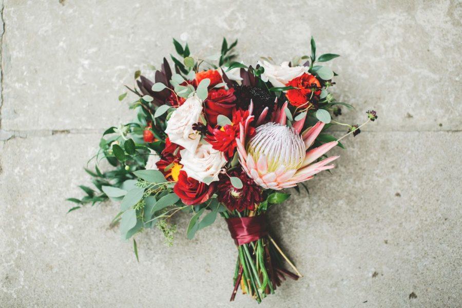 Red Wedding Bouquet: Nashville wedding planner Amy & I Designs featured on Nashville Bride Guide