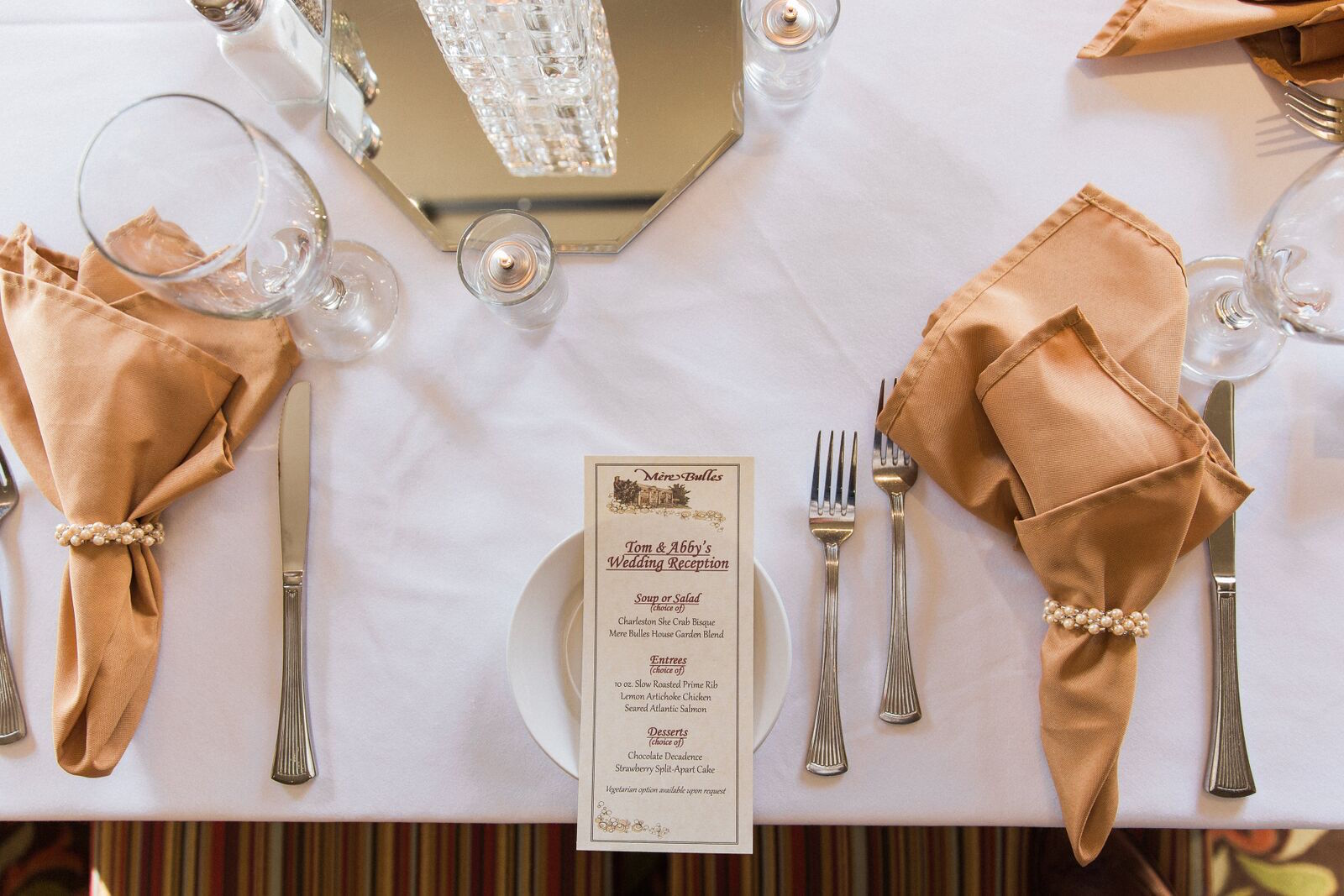 Wedding Menu Options at Mere Bulles Nashville