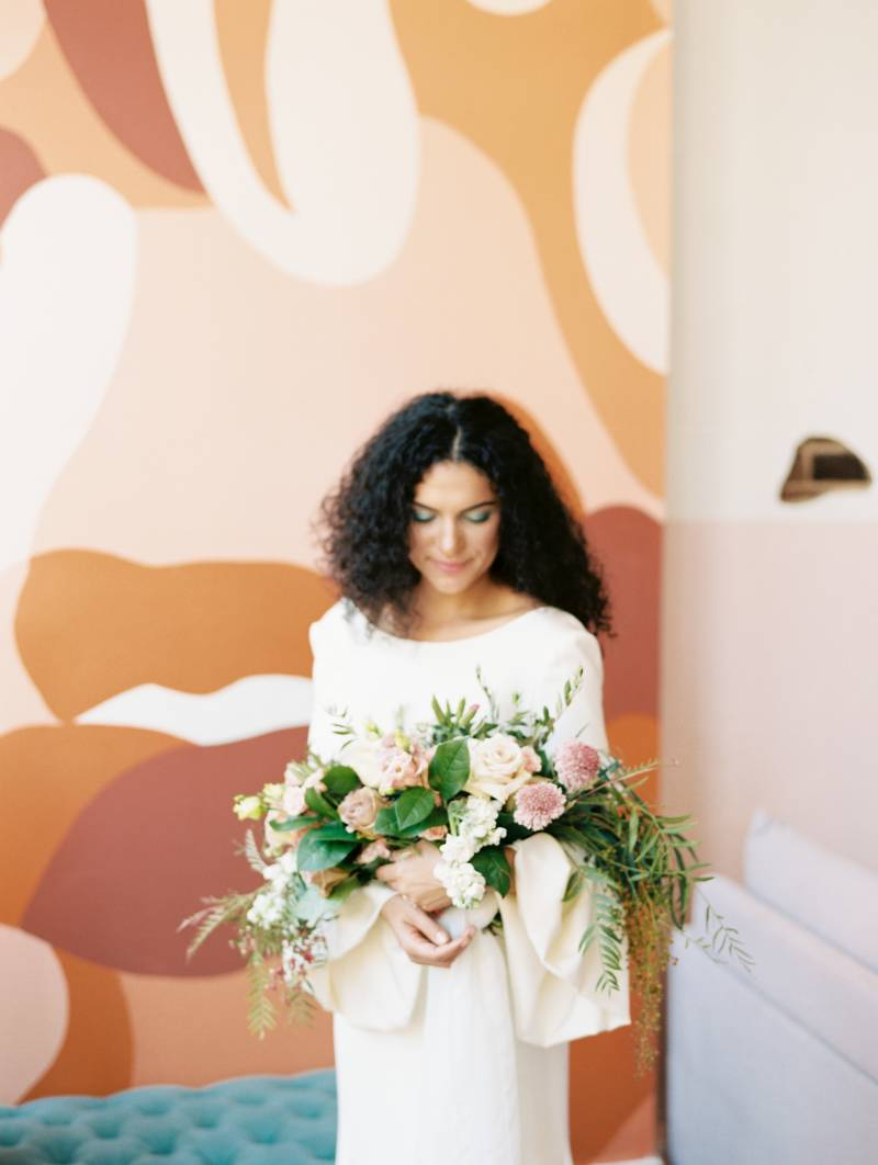 Bold bridal fashion: Bold 70's wedding inspiration featured on Nashville Bride Guide!