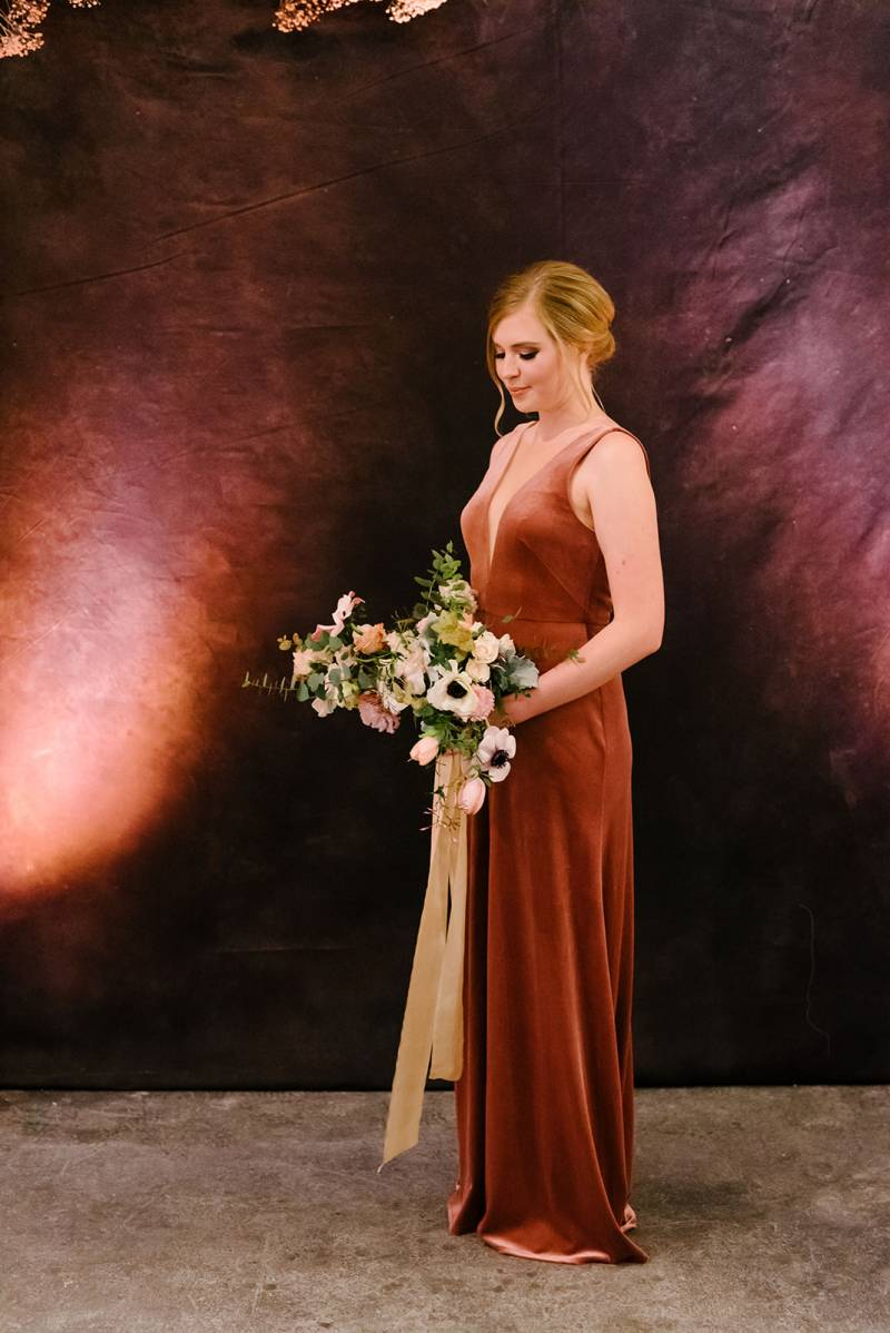 Rust colored bridesmaid dress: Bella Bridesmaids Dress Color Trend Predictions on Nashville Bride Guide