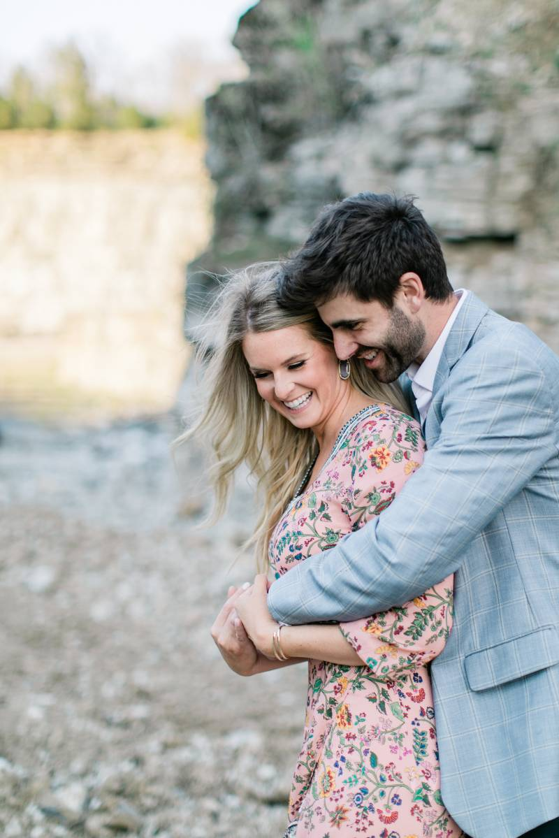 Graystone Quarry Engagement Session featured on Nashville Bride Guide