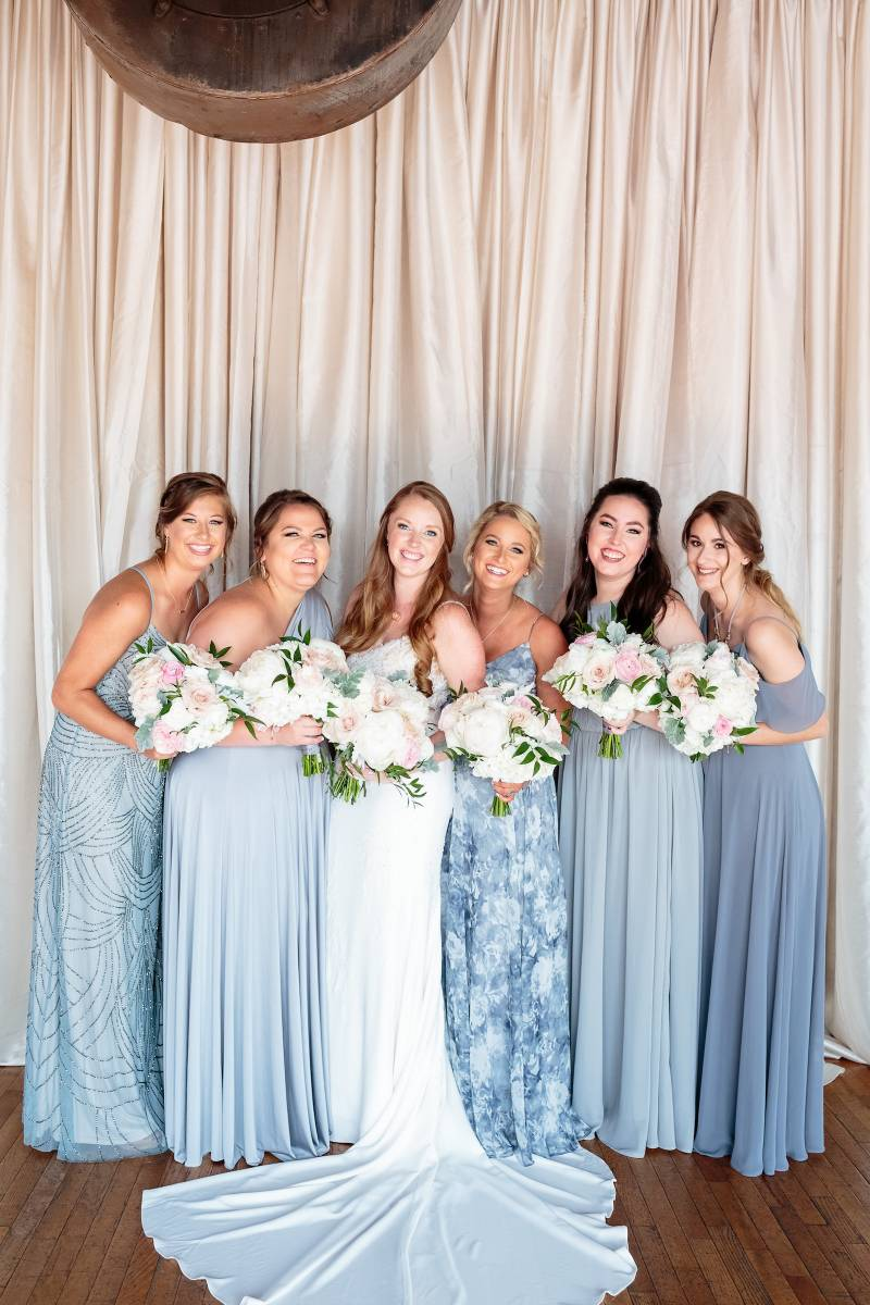 Mismatched blue bridesmaid dresses: Bella Bridesmaids Dress Color Trend Predictions on Nashville Bride Guide