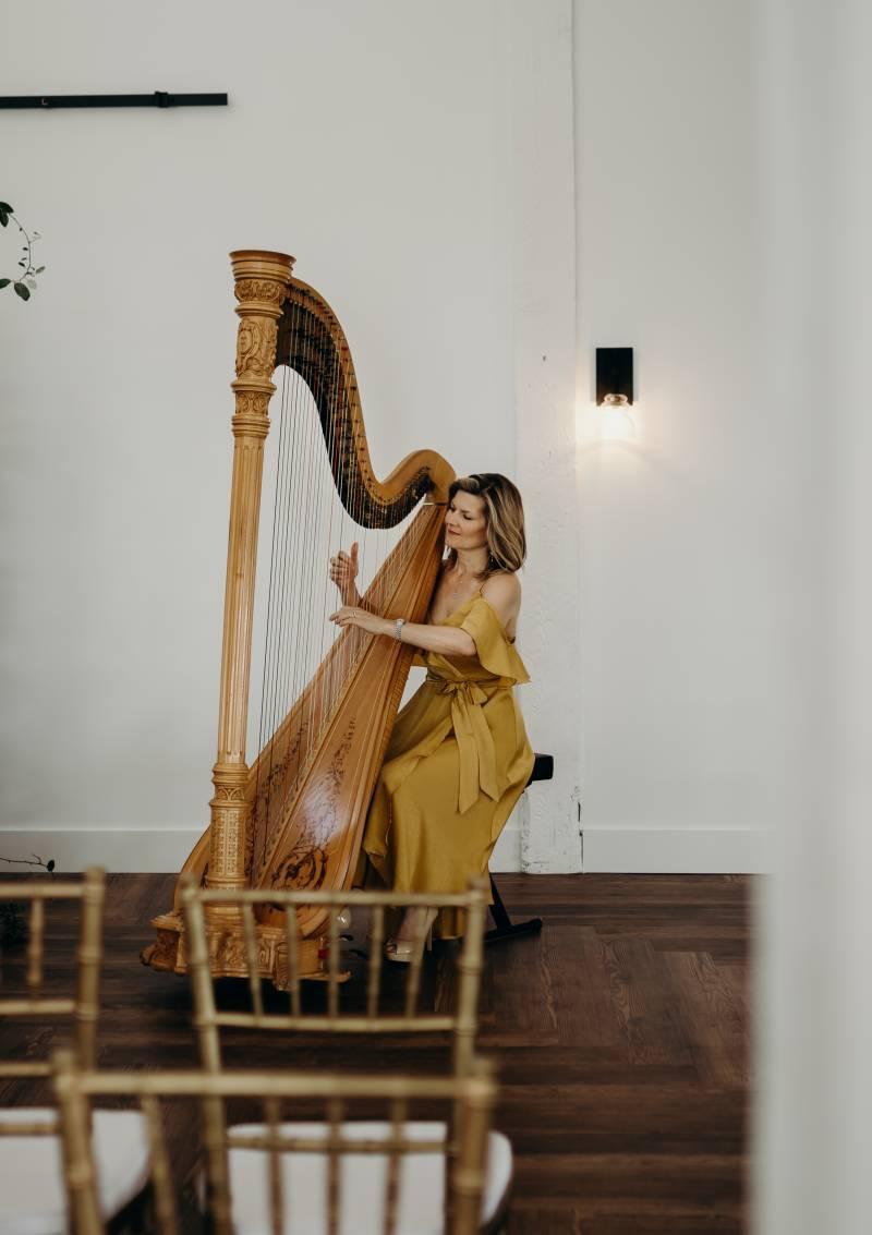 Wedding harp player: Bridal shoes: Nashville Tennessee Styled Shoots Across America Wedding Inspiration