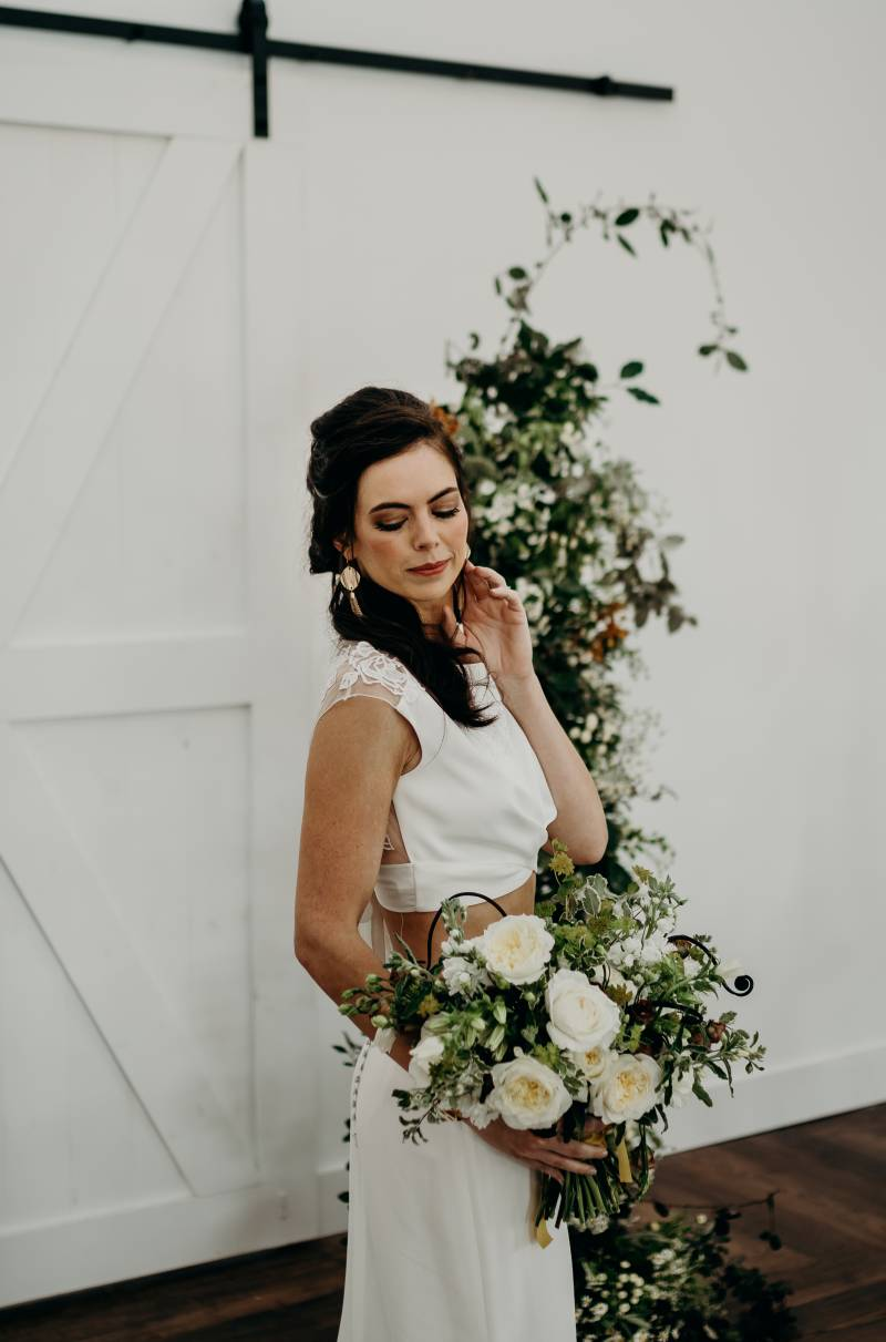 Wedding hair and makeup: Bridal shoes: Nashville Tennessee Styled Shoots Across America Wedding Inspiration