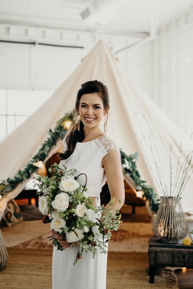 Bridal portrait: Bridal shoes: Nashville Tennessee Styled Shoots Across America Wedding Inspiration