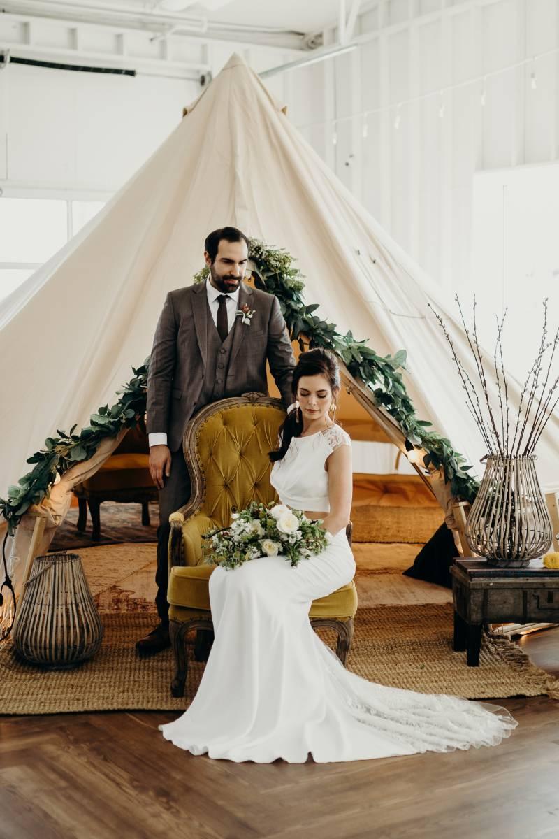 Creative wedding decor: Bridal shoes: Nashville Tennessee Styled Shoots Across America Wedding Inspiration