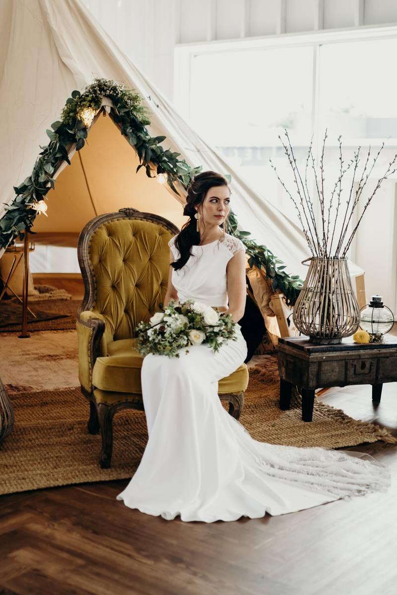 Boho wedding inspiration: Bridal shoes: Nashville Tennessee Styled Shoots Across America Wedding Inspiration