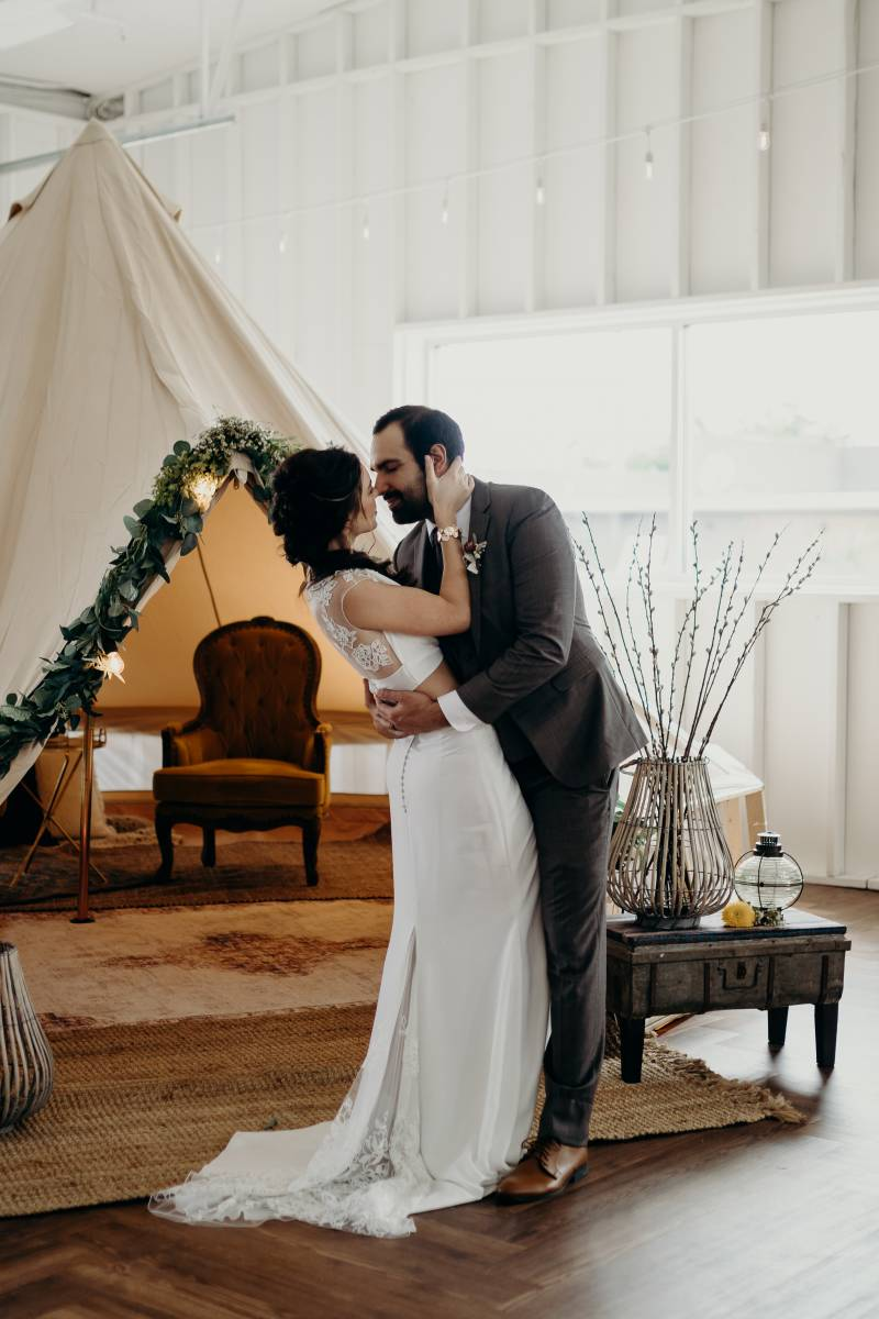 Boho-chic wedding decor: Bridal shoes: Nashville Tennessee Styled Shoots Across America Wedding Inspiration