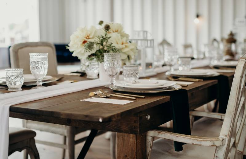 Wedding tablescape: Bridal shoes: Nashville Tennessee Styled Shoots Across America Wedding Inspiration
