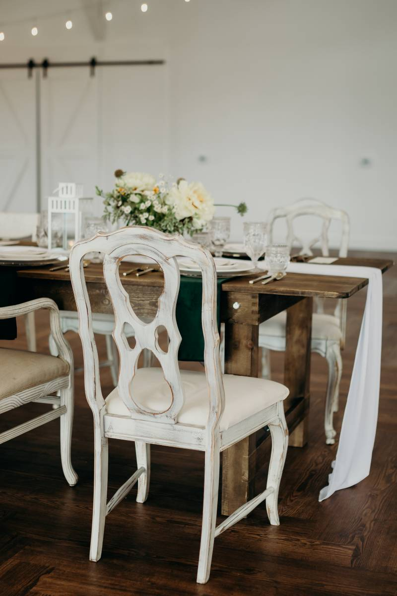 Rustic wedding chairs: Bridal shoes: Nashville Tennessee Styled Shoots Across America Wedding Inspiration