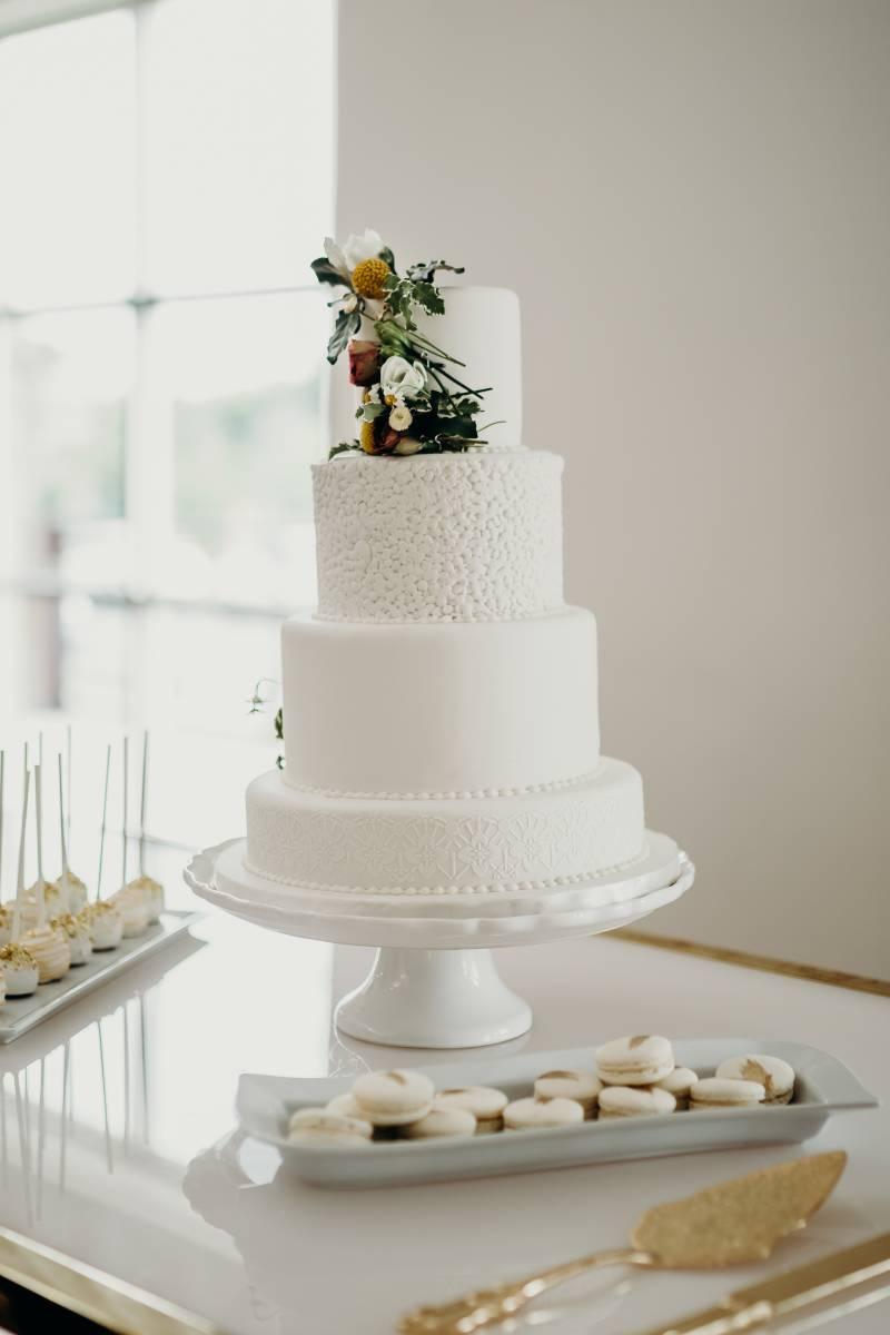 Wedding cake: Bridal shoes: Nashville Tennessee Styled Shoots Across America Wedding Inspiration