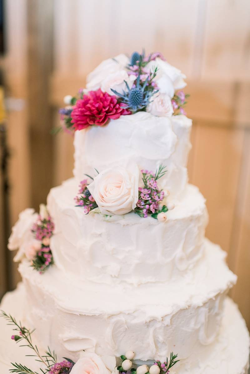Rustic wedding cake design: Hidden Creek Farm Wedding featured on Nashville Bride Guide