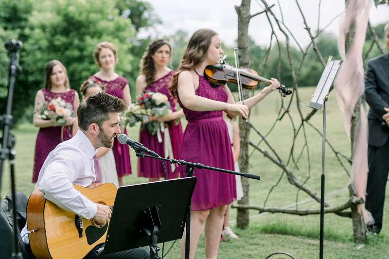 Wedding ceremony musicians: Hidden Creek Farm Wedding featured on Nashville Bride Guide