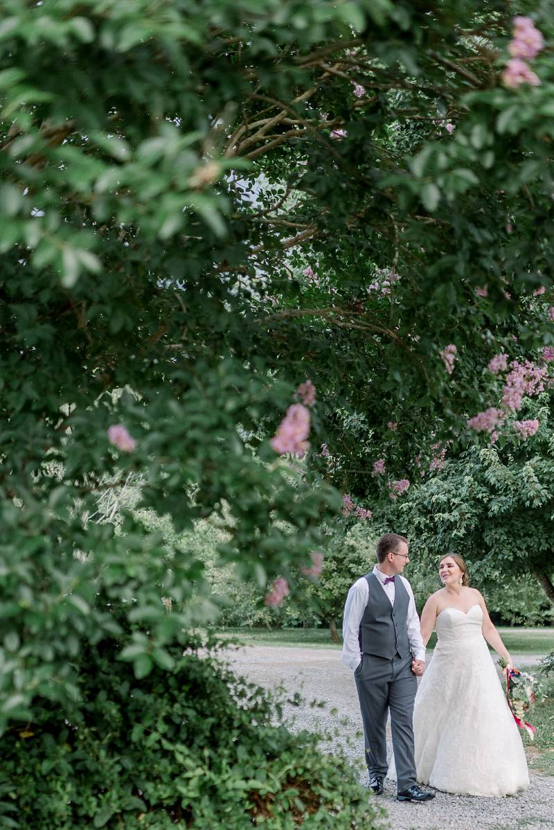 Bride and groom wedding portrait: Hidden Creek Farm Wedding featured on Nashville Bride Guide