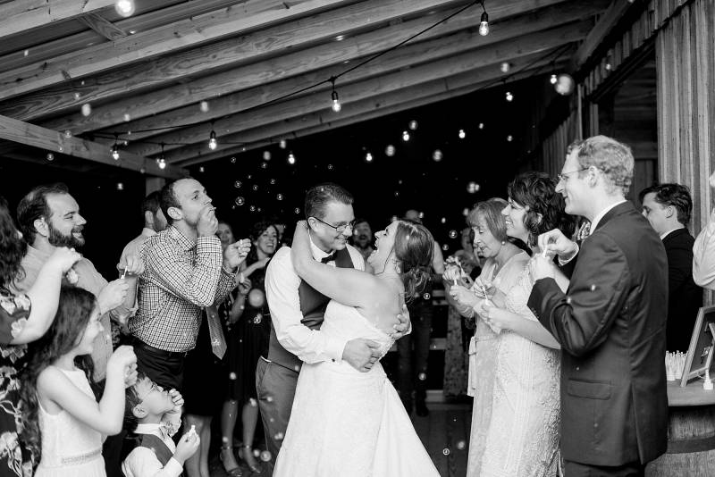 Black and white wedding photography: Hidden Creek Farm Wedding featured on Nashville Bride Guide