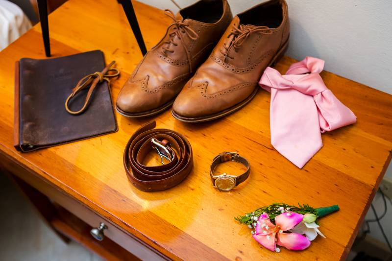 Grooms accessories: Belize destination wedding featured on Nashville Bride Guide