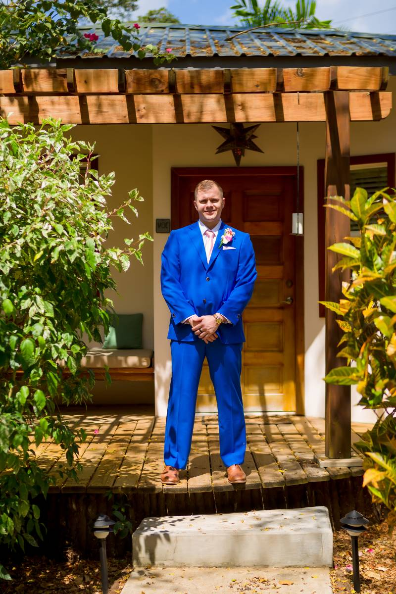 James M Williams Sartorial custom wedding tuxedo: Belize destination wedding featured on Nashville Bride Guide