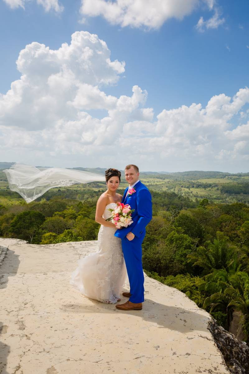 Custom fit wedding tuxedo: Belize destination wedding featured on Nashville Bride Guide