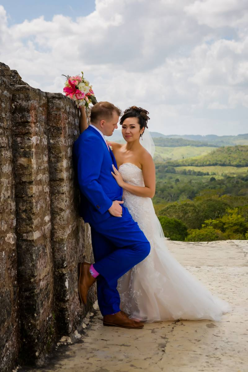 Bespoke wedding tuxedo: Belize destination wedding featured on Nashville Bride Guide