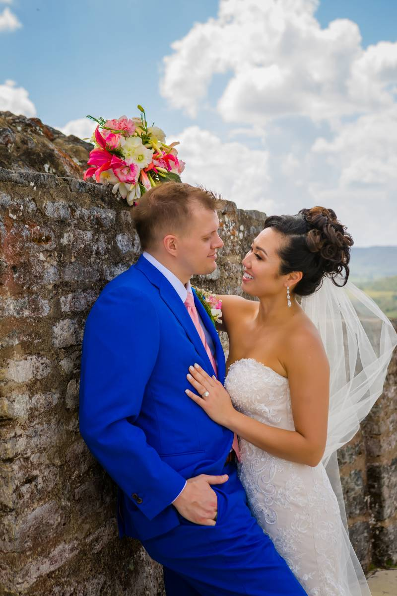 Blue wedding tuxedo: Belize destination wedding featured on Nashville Bride Guide