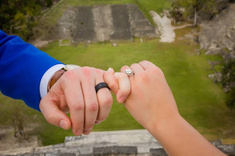 Wedding ring: Belize destination wedding featured on Nashville Bride Guide