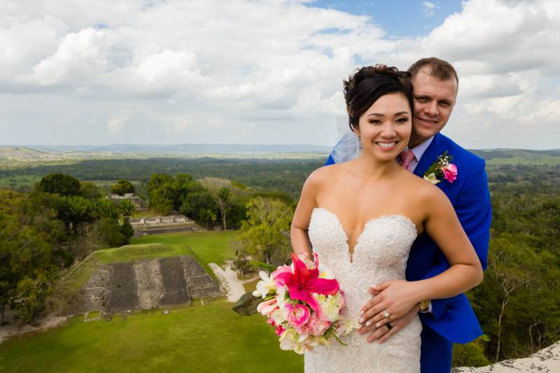 Wedding portrait: Belize destination wedding featured on Nashville Bride Guide