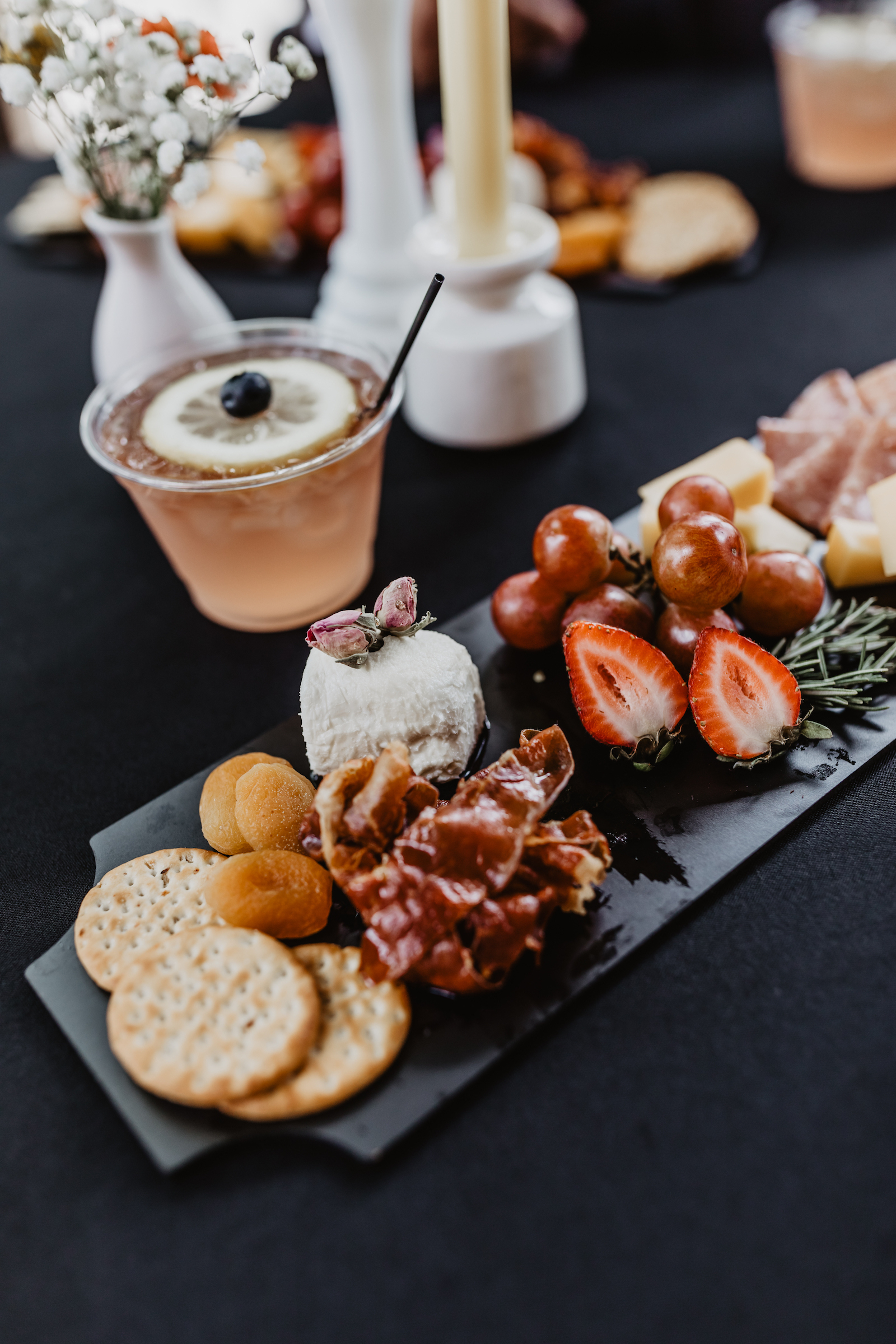 Wedding appetizer ideas for Music City Merger styled shoot featured on Nashville Bride Guide