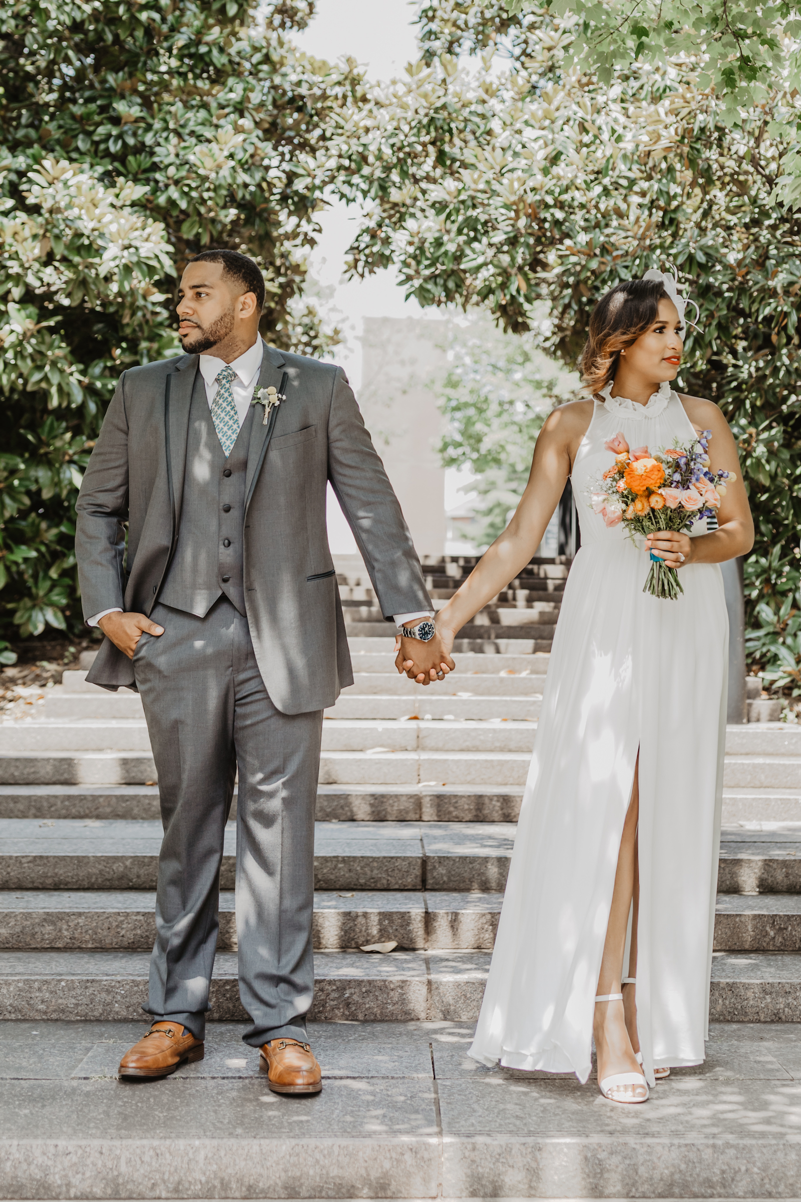 Outdoor wedding photos: Music City Merger wedding inspiration featured on Nashville Bride Guide