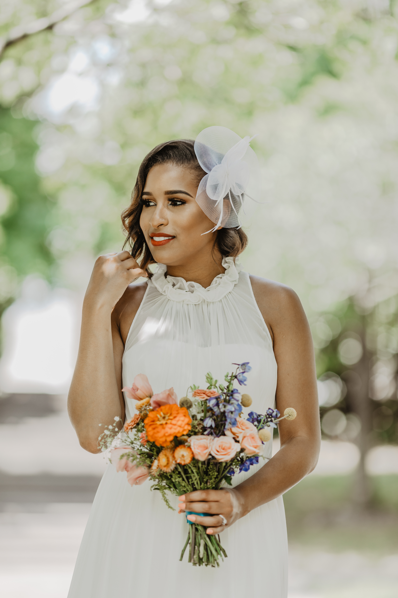 Bridal portrait: Music City Merger wedding inspiration featured on Nashville Bride Guide