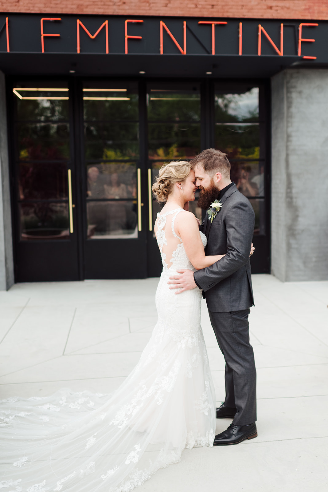 Wedding portrait: Nashville wedding at Clementine featured on Nashville Bride Guide