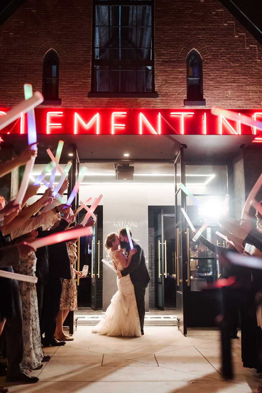 Wedding exit photography: Nashville wedding at Clementine featured on Nashville Bride Guide