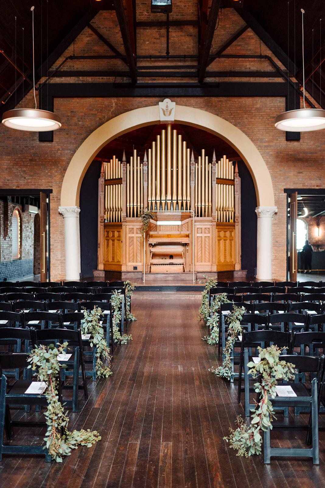 Wedding ceremony decor: Nashville wedding at Clementine featured on Nashville Bride Guide