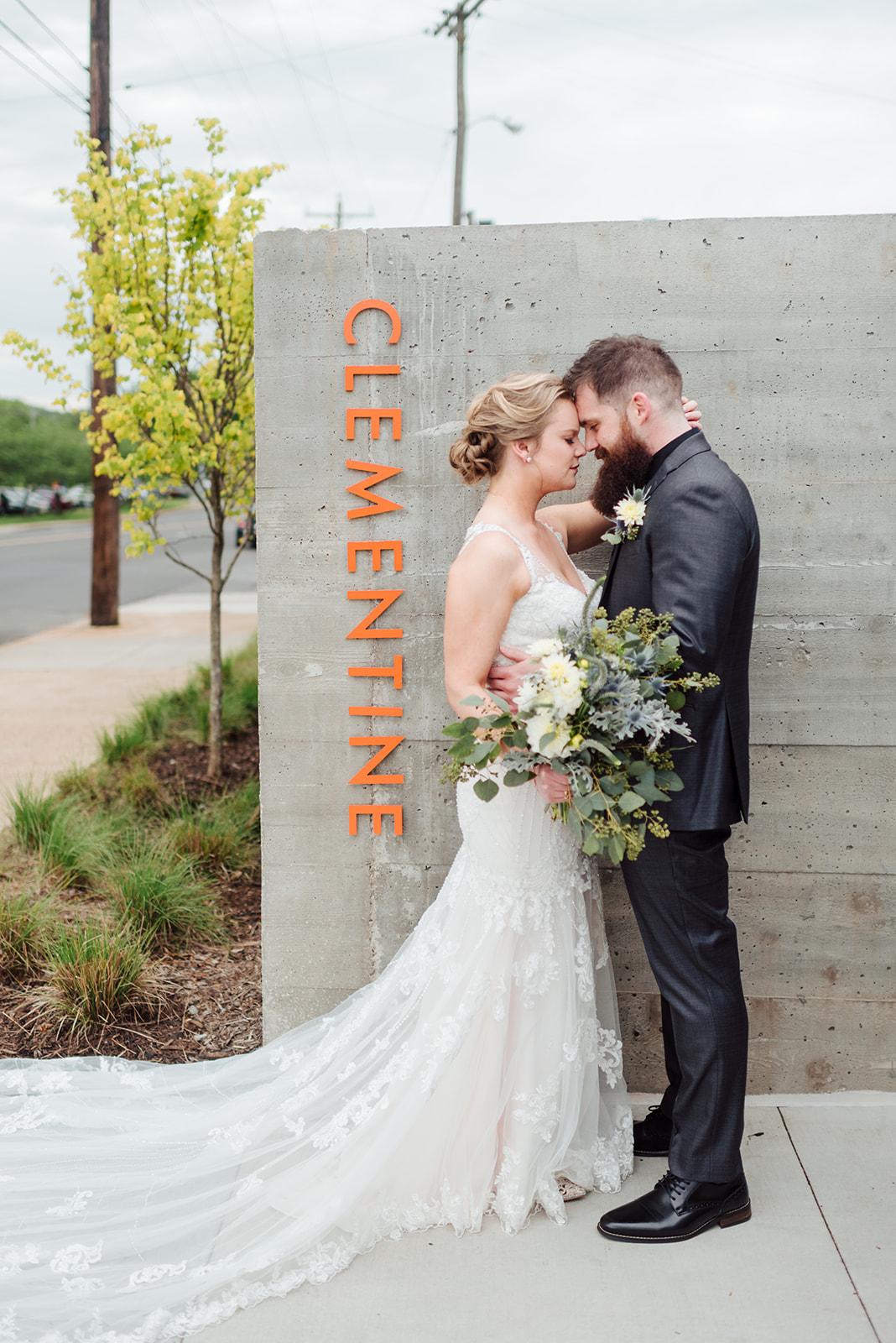 Clementine Nashville: Nashville wedding at Clementine featured on Nashville Bride Guide